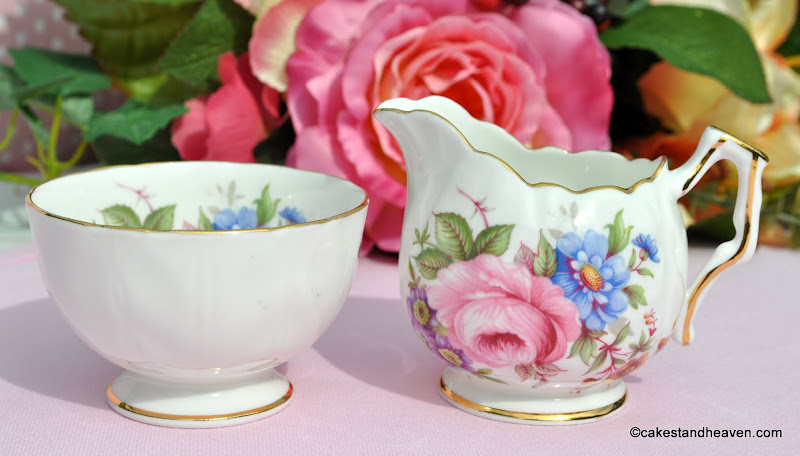 Mini Aynsley China Milk Jug & Sugar Bowl