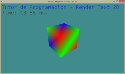 Render Text OpenGL Moderno