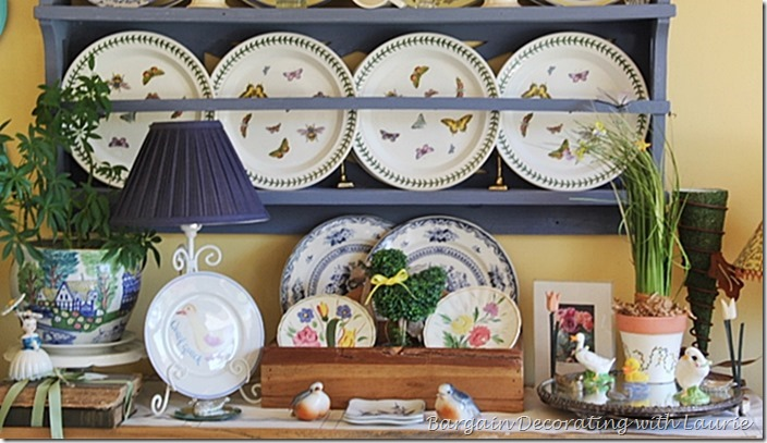 Spring Decor-Bargain Decorating with Laurie