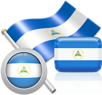 Nicaraguan flag icons pictures collection
