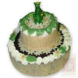 52. kép: Ünnepi torták - Kétszintes születésnapi torta Süsü marcipánnal