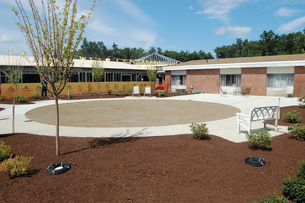 The new patio at Holden Rehab