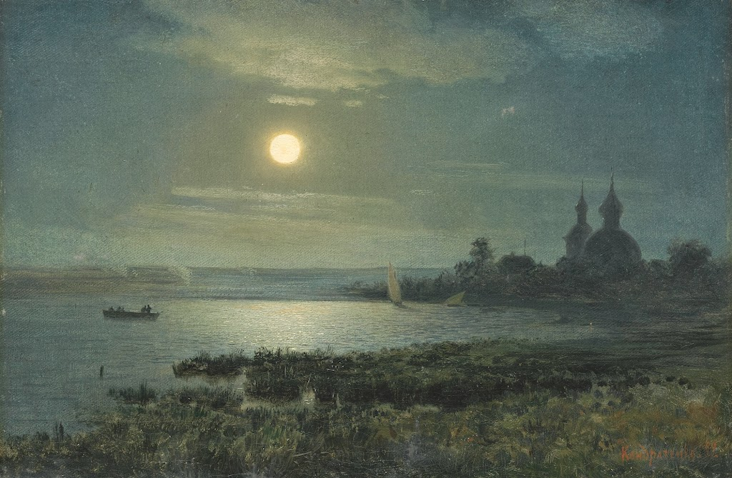 Gavril Kondratenko - Moonrise over the lake