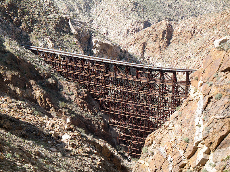 The awe inspiring Goat Canyon Trestle deep in Carrizo Gorge