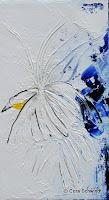 'Paradiesvogel', Öl auf Leinwand, 23x40, 2005