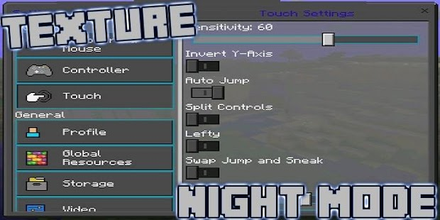 Night Mode Texture MCPE - náhled