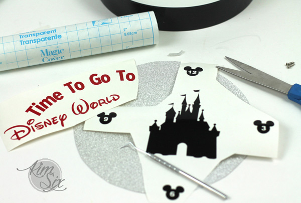 Cutting Vinyl to make a clock for Disneyworld