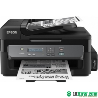 How to reset flashing lights for Epson M200 printer
