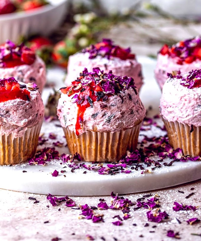 Strawberry Cardamom Cupcakes Recipe | Breakfast Care