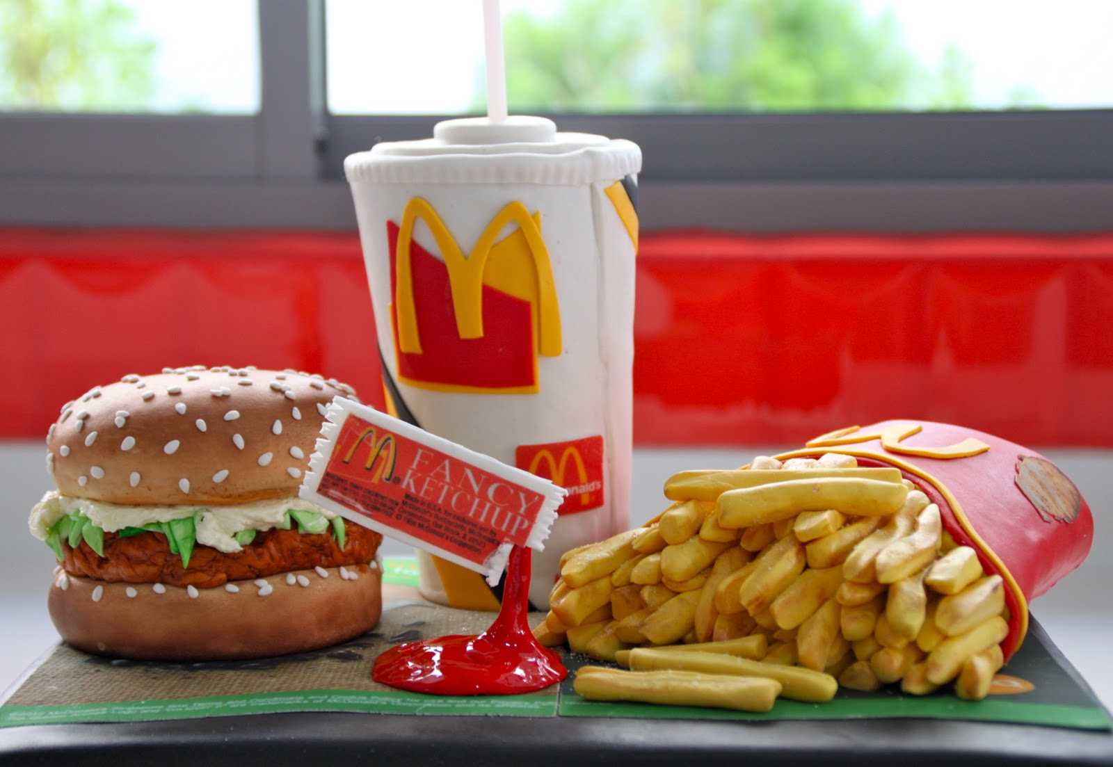 Celebrate With Cake Mcdonalds Mcchicken Burger Meal Cake
