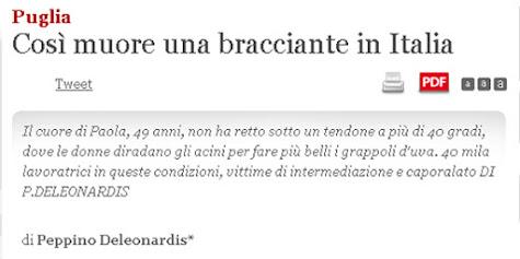 Così muore una bracciante in Italia