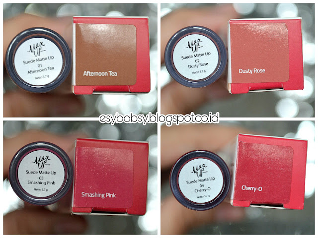max-up-suede-matte-lip-review-all-shades-esybabsy
