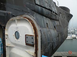 """Госпорт. Музей Подводных Лодок. Подлодка """"Alliance"""" 1947 года. Дверь."""