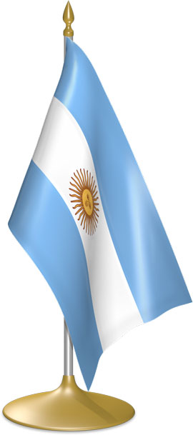 Argentine table flags - desk flags