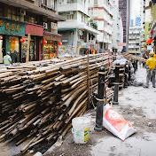 Строительные леса здесь делают из бамбука.