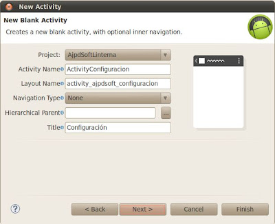 Añadir un activity a una aplicación Android con Eclipse