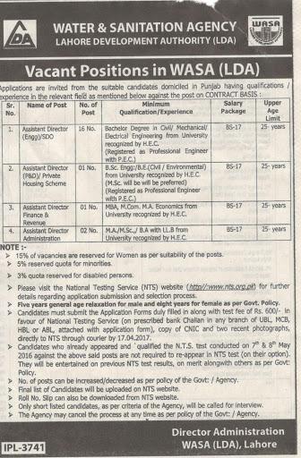 Civil Engineers Assistant Director Civil Jobs In Lahore Development Authority LDA