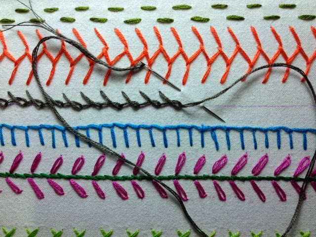 barred chain stitch
