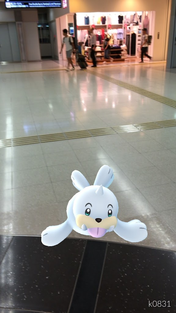 【ポケモンGo】羽田空港にもポケストップ・ファーストクラス機内でレアキャラ発見