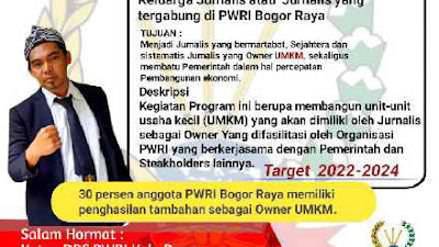 DPC PWRI Bogor Luncurkan Program Jurnalispreneur