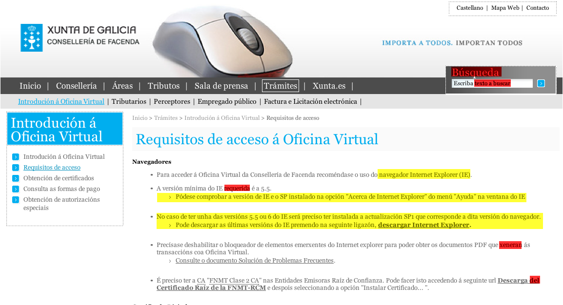 A profa software de pagamento para usar a oficina virtual for Oficina virtual correos