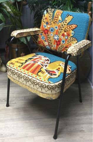 nathalie gagneux cr ations fauteuils vintage de coiffeur et canevas vendus. Black Bedroom Furniture Sets. Home Design Ideas