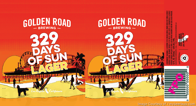 Golden Road - 329 Days Of Sun Lager 12oz cans