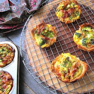 Quiche Toast Cups w/ Broccoli & Bacon