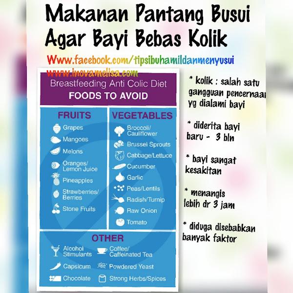 Makanan Pantang Bagi Ibu Menyusui Agar Bayi Bebas Kolik
