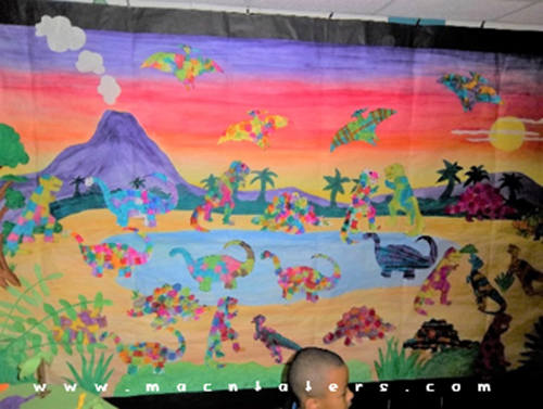 Tissue Paper Dinosaurs