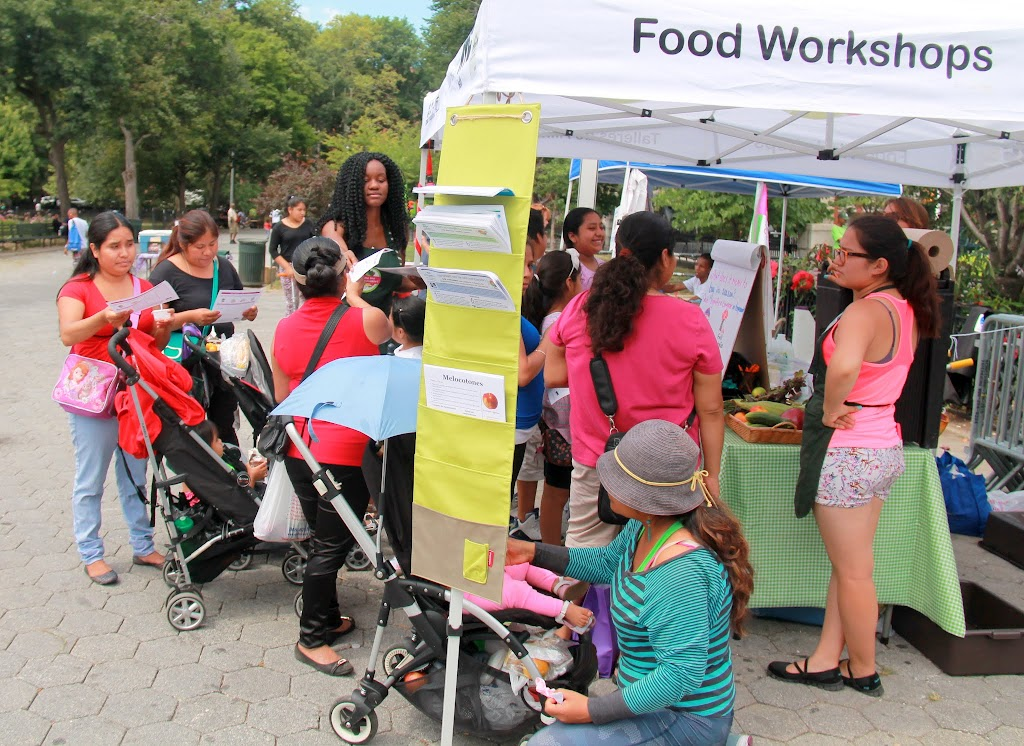 Some of our families continue on to the Greenmarket in Marcus Garvey Park