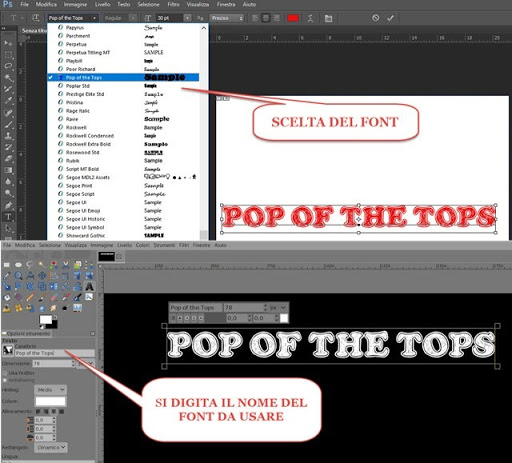 nuovi font per gimp