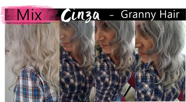 Mix cinza no cabelo