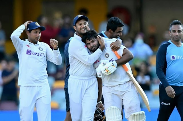 cricket news today, india won against australia  4th test match and series.