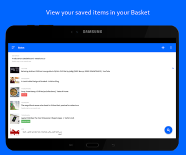 Basket - Bookmark Organizing and Read Later app- screenshot thumbnail