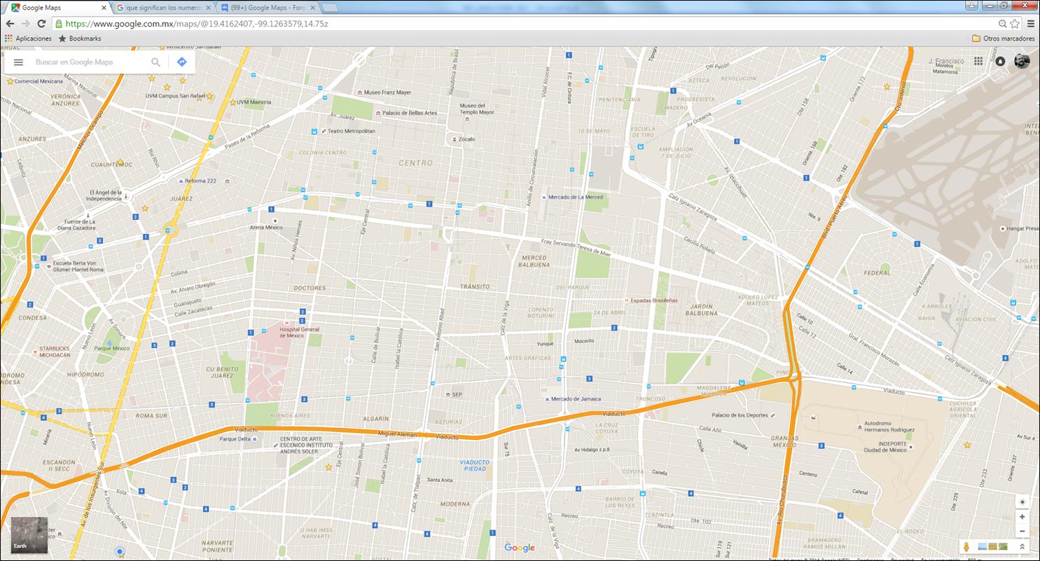 Que significan los números en Recuadro Azul en Google Maps ...