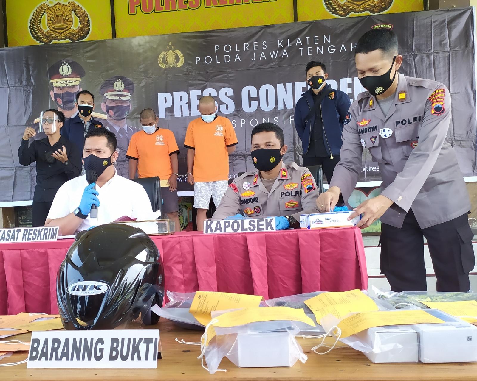 Sepakterjang Sendikat Pembobol ATM Lintas Kota Terhenti di Polres Klaten.
