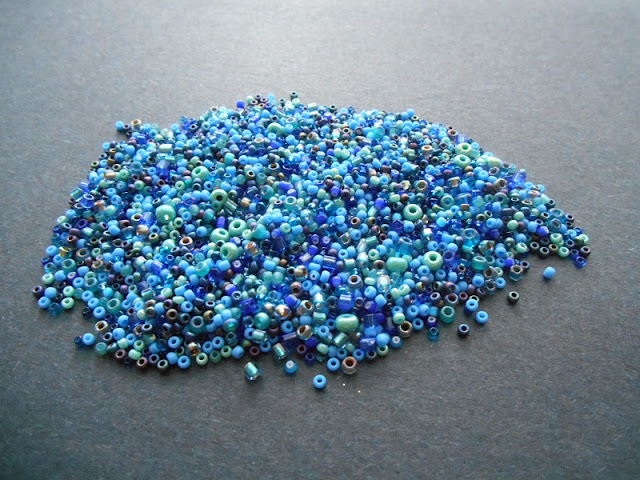Blue Seed Bead Soup