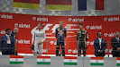 2013 Indian F1 GP podium: Sebastian Vettel, Nico Rosberg,  Romain Grosjean