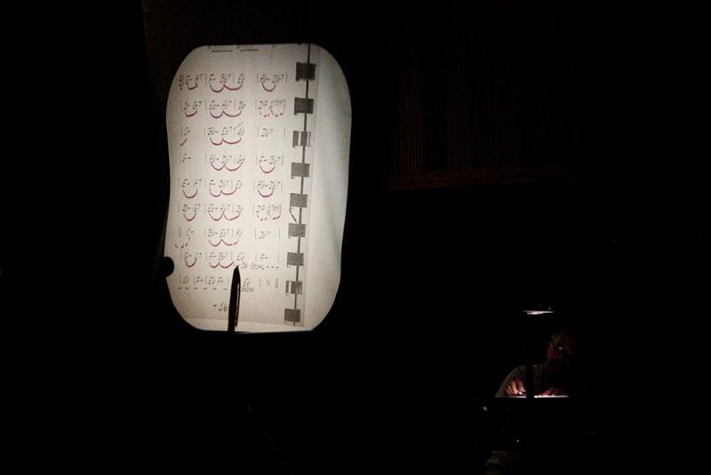 David-Kana-on-the-overhead-projector