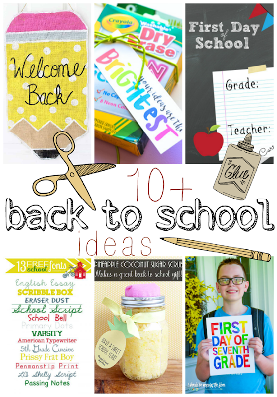 10  Back to School Ideas at GingerSnapCrafts.com #backtoschool #gingersnapcrafts