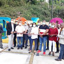 Alcaldesa Danilsa Cuevas inaugura Parque y Stand del nombre del municipio