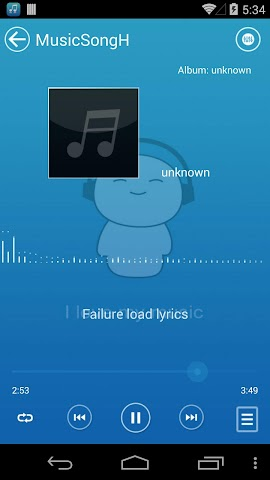 android Mp3 Music Player Screenshot 4