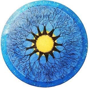 """Soul Trees"" mandela by Barbara Moncivais. Acrylic on Canvas."