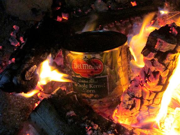 Corn in the camp fire