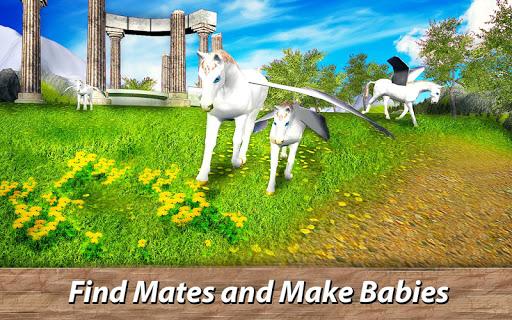 ud83eudd84ud83cudf08u2764ufe0f Pegasus Simulator: Flying ud83dudc0e Horse Survival 1.1 screenshots 3