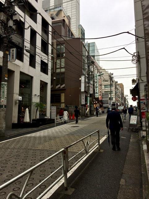 渋谷桜丘の急な坂道
