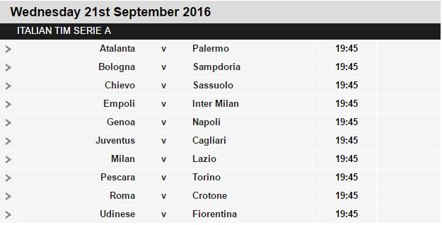Serie%2BA%2Bschedule%2B5 Planning a Football Trip to Italy - SERIE A FIXTURES 2016/17