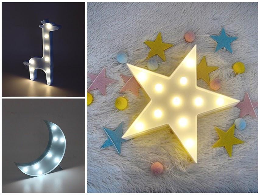 Luces quitamiedos para habitaciones infantiles