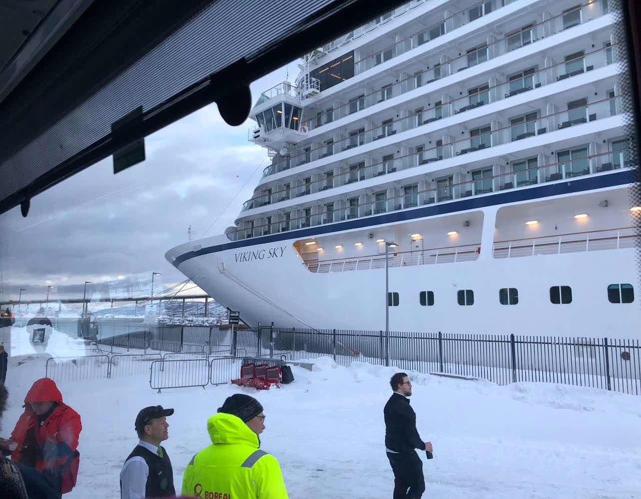 Returning to the Viking Sky after a shore excursion (Source: Palmia Observatory)